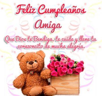 Tarjetas De Feliz Cumpleaños Para Una Amiga Romántica