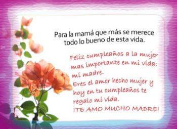 Tarjetas De Feliz Cumpleaños Para Una Madre Tierna