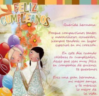 Tarjetas De Feliz Cumpleaños Para Una Hermana Compañera