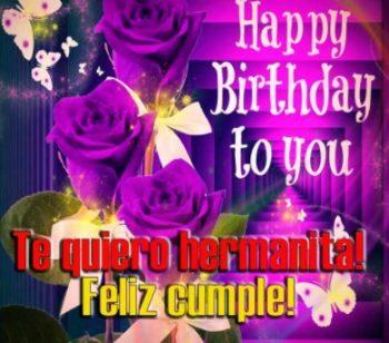 Tarjetas De Feliz Cumpleaños Para Una Hermana Romántica