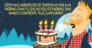 Tarjetas De Feliz Cumpleaños Para Un Padrino Genial