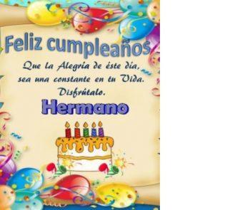 tarjetas de feliz cumpleaños para un hermano perseverante
