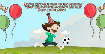 Tarjetas De Feliz Cumpleaños Para Un Nieto Juguetón