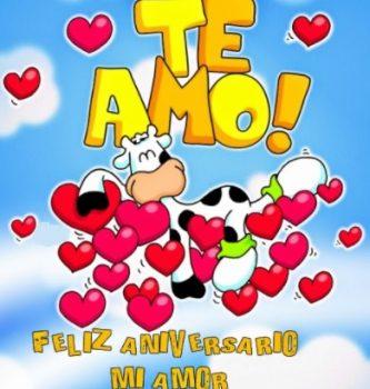 Tarjeta De Feliz Aniversario Mi Dulce amor