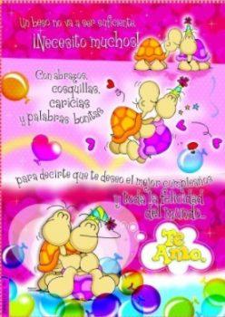 Tarjetas De Feliz Cumpleaños Para Mi Alegre Amorcito