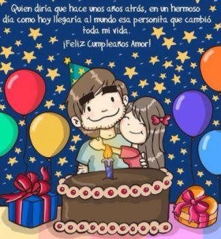 Tarjetas De Feliz Cumpleaños Para Mi Amado Amor
