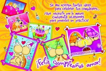 Tarjetas De Feliz Cumpleaños Para Mi Bonito Amor