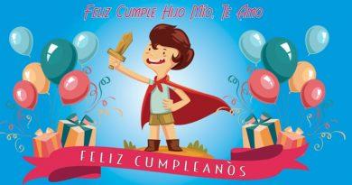 Tarjetas De Feliz Cumpleaños Para Un Hijo Alegre