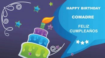 Tarjetas De Feliz Cumpleaños Para Una Comadre Dulce