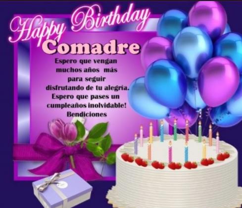 Tarjetas De Feliz Cumpleaños Para Una Comadre Moderna