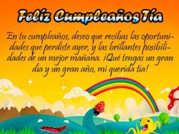 Tarjetas De Feliz Cumpleaños Para Una Tía Perseverante