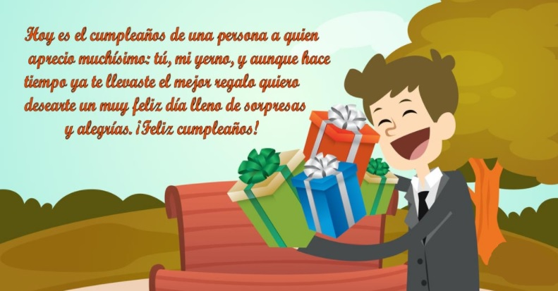 Las Mas Encantadoras Tarjetas De Feliz Cumpleaños Para Un Yerno Portal De Feliz Cumpleaños