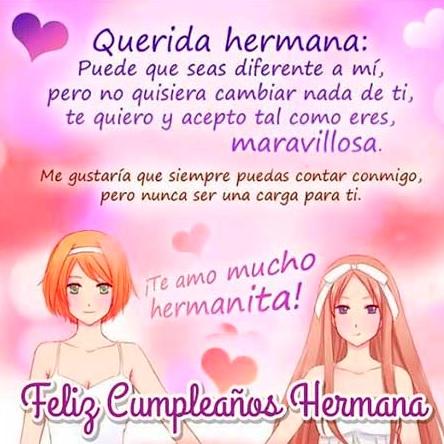 Originales Mensajes De Feliz Cumpleaños Para Una Hermana