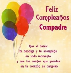 Feliz Cumpleaños Compadre Portal De Feliz Cumpleaños