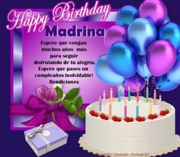 Feliz Cumpleaños Querida Madrina