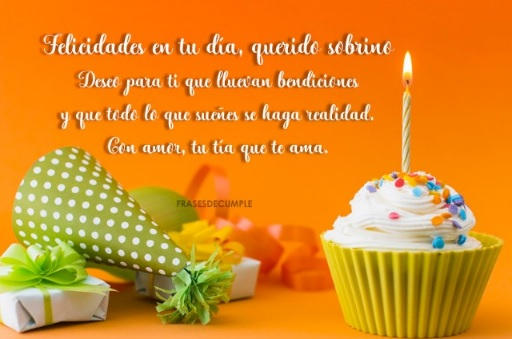 Feliz cumpleaños Sobrino Bello