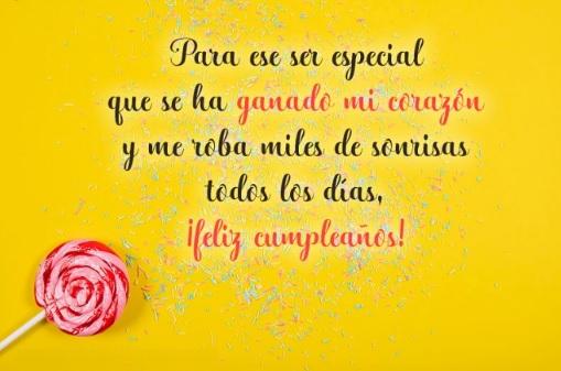 Feliz cumpleaños Sobrino Tierno