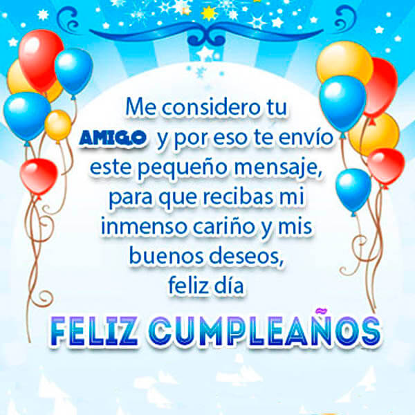 Feliz cumpleaños amigo optimista