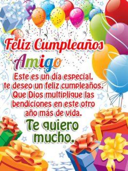 Feliz cumpleaños querido amigo