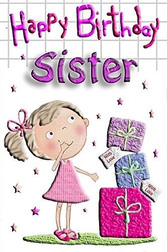 feliz cumpleaños hermanita bondadosa