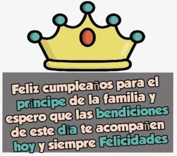 Feliz cumpleaños mi amado príncipe