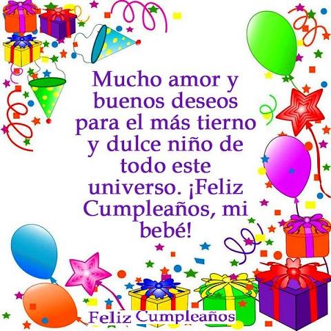 Feliz cumpleaños mi nene