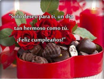 tarjetas de feliz cumpleaños para una enamorada dulce
