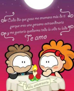 Tarjeta De Feliz Aniversario Mi Romántico Amor
