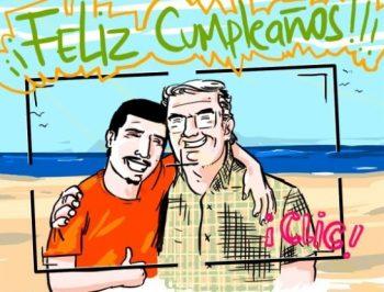 Tarjetas De Feliz Cumpleaños Para Un Abuelo Alegre