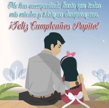 Feliz cumpleanos a mi hija de su padre