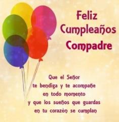 Feliz Cumpleaños Apreciado Compadre