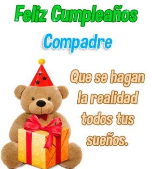 Feliz cumpleaños Compadre Estimado