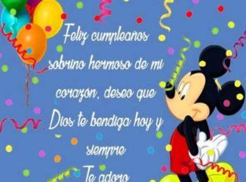 Feliz cumpleaños Sobrino adorado