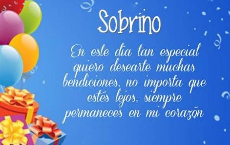 Feliz cumpleaños Sobrino apreciado