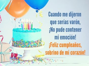 Feliz cumpleaños Sobrino varon