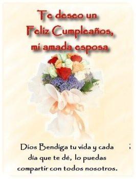 feliz cumpleaños mi amada esposa