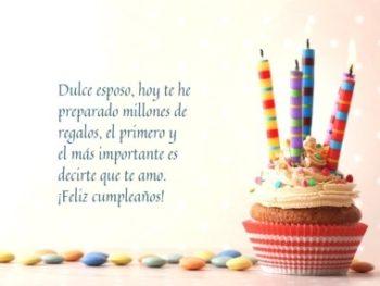 feliz cumpleaños dulce esposo